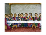 The Last Supper. Jesus Announces to the Apostles That One of Them Will Betray. Codex of Predis… Giclee Print