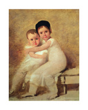 Portrait of the Artist's Children Giclee Print by Domingos Antonio De Sequeira