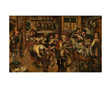 The Peasant Lawyer Giclée-Druck von Pieter Brueghel the Younger