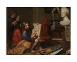 The Artist's Studio, 1666 Giclee Print by Jacob Van Oost