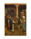 The Magisters in the Workshop of Jan Van Eyck, C.1895-1900 Giclee Print by Albrecht de Vriendt