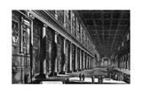 View of the Interior of Santa Maria Maggiore, from the 'Views of Rome' Series, C.1760 Giclee Print by Giovanni Battista Piranesi