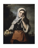 Girl Selling Fruit C.1650 Giclee Print by Bartolome Esteban Murillo