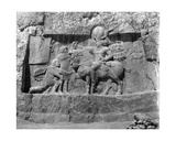 Relief Depicting the Victory of King Shapur I over Philip the Arab and Emperor Valerian Giclee Print