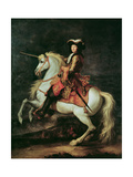 Portrait of Louis Xiv on a Horse Giclee Print by Adam Frans van der Meulen
