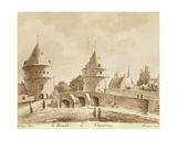 Broel Towers, Courtray, 1844 Giclee Print by Philippe Auguste de Peellaert