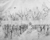 Funeral of the Virgin, from the Jacopo Bellini's Album of Drawings Photographic Print by Jacopo Bellini
