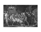 Priam Redeems the Dead Body of Hector, Domenico Cunego, 1764 Giclee Print by Gavin Hamilton