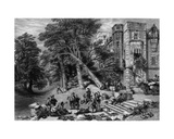 Destruction of the Property of Royalists, Engraved by R. Wallis, C.1860s Giclee Print by George Cattermole