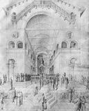 The Presentation of the Virgin in the Temple, from the Jacopo Bellini's Album of Drawings Photographic Print by Jacopo Bellini