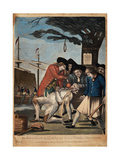The Bostonian's Paying the Excise-Man, or Tarring and Feathering, 1774 Giclée-Druck von Philip Dawe