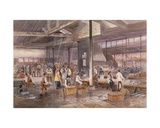 Interior View of Billingsgate Fish Market, C.1849 Giclee Print by John Syer