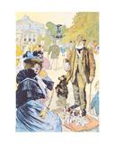 Outside the Ledoyen Restaurant on the Champs-Elysées, Paris, 1897 Giclee Print by Louis Malteste