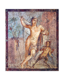 Emafrodito and Panisco, from the House of Meleager, Pompeii Giclee Print