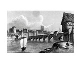 Castle and City of Limerick, Engraved by E. Finden, 1829 Giclee Print by William Westall
