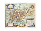 Bergen, Netherlands, 1649 Giclee Print by Joan Blaeu