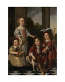 Portrait of Four Children Giclee Print by Nicolaes Maes