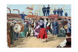 Spanish Emigrants on Board a Ship Heading Toward Argentina Giclee Print