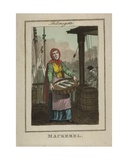 Mackerel Seller at Billingsgate, 1804 Giclee Print by William Marshall Craig