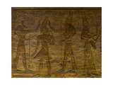 Small Temple or Temple of Hathor. The Gods Set (Left) and Horus (Right) Adoring Ramses II. Abu… Giclée-tryk