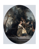 Concert in the Park, 1725 Giclee Print by Nicolas Lancret