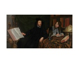 Portrait of a Theologian with His Secretary, 1668 Giclee Print by Jacob Van Oost