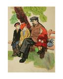 Children Visiting Lenin, C.1960s Giclee Print by Masabikh Akhunov
