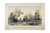 The Battle of Lake Erie, Commodore O.H. Perry's Victory, 1878 Giclee Print by J. P. Newell