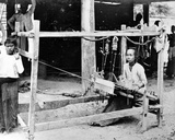 Burmese Woman Seated at a Loom, C.1870-90 Photographic Print