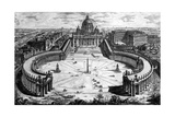 Bird's-Eye View of St. Peter's Basilica and Piazza, Form the 'Views of Rome' Series, C.1760 Giclee Print by Giovanni Battista Piranesi