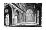 View of the Interior of St. Peter's Basilica, from the 'Views of Rome' Series, C.1760 Wydruk giclee autor Giovanni Battista Piranesi