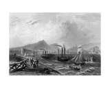 Leith Pier and Harbour, Engraved by Robert Wallis, C.1820 Giclee Print by William Henry Bartlett