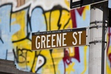 Greene Street Sign, Soho Area, New York Photographic Print