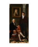 Friendship Portrait of the Artists François Wynckelman, François Van Der Do Giclee Print by Joseph Denis Odevaere