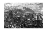 Edinburgh from the Calton Hill, Engraved by George Cooke, 1820 Giclee Print by J. M. W. Turner