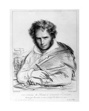 Self Portrait, Print Made by J. B. Lambert Giclee Print by Anne Louis Girodet de Roucy-Trioson