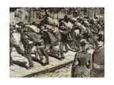 Arrival of Italian Immigrants to New York. 1863. Engraving Giclee Print