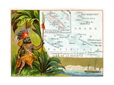 French Possessions in Oceania, C.1890 Giclee Print