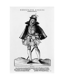 A Nobleman from Misnia and Saxonia, Illustration from 'trachtenbuch' by Hans Weigel, Published 1577 Giclee Print by Hans Weigel