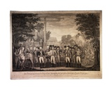 The British Surrendering their Arms to Gen. Washington...At York Town [Yorktown], 1819 Giclee Print by John Francis Renault