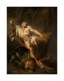 Milo of Croton Giclee Print by Joseph Benoit Suvee