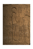 Relief Depicting Khonsu (Khonsar) God of the Moon Giclee Print