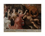 Detail of Allegory of the 1577 Peace in the Low Countries, 1577 Giclee Print by Pieter II Claeissens