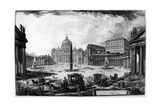 View of St Peter's Basilica and Piazza, from the 'Views of Rome' Series, C.1760 Giclee Print by Giovanni Battista Piranesi