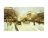 Paris Street Scene Giclee Print by Fausto Giusto