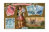 Persian Postage Stamps, 1897 Giclee Print