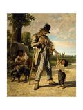 L'Aumone D'Un Mendiant Giclee Print by Gustave Courbet