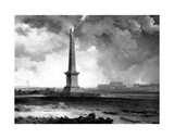 Nelson's Monument Struck by Lightning, C.1810 Giclee Print by John Knox