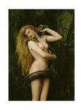 Lilith, 1887 (Detail) Giclée-tryk af John Collier