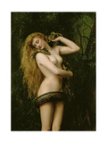 Lilith, 1887 (Detail) Giclee Print by John Collier